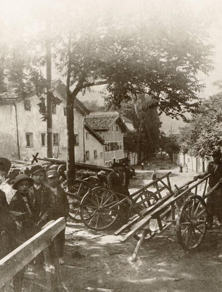 Blickrichtung Wopfnerstraße 1900